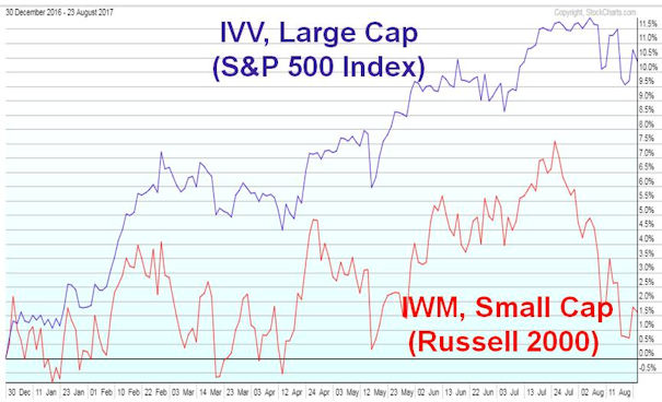 Large Cap vs. Small Cap, YTD 2017
